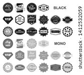 different label black icons in... | Shutterstock . vector #1412532059