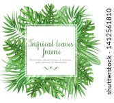 frame with tropical leaves ... | Shutterstock . vector #1412561810