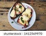 hot sandwiches. cheese ... | Shutterstock . vector #1412569970