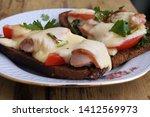 hot sandwiches. cheese ... | Shutterstock . vector #1412569973