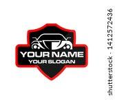 automotive car logo design... | Shutterstock .eps vector #1412572436