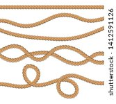 set of different ropes. string  ...   Shutterstock . vector #1412591126