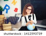 portrait of a beautiful primary ...   Shutterstock . vector #1412593739