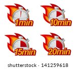 1 minute  10 minutes  15 and 20 ... | Shutterstock .eps vector #141259618