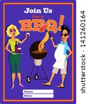 invitation to a barbecue... | Shutterstock .eps vector #141260164