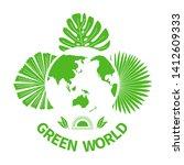 green world leaves silhouette... | Shutterstock .eps vector #1412609333