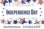usa independence day  happy 4th ... | Shutterstock .eps vector #1412611349