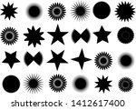 star icons set. vector...