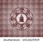 tombstone icon inside red... | Shutterstock .eps vector #1412625929