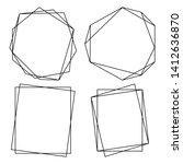 geometric polygonal frames  ... | Shutterstock .eps vector #1412636870