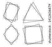 geometric polygonal frames  ...   Shutterstock .eps vector #1412636879