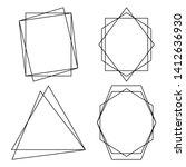 geometric polygonal frames  ...   Shutterstock .eps vector #1412636930