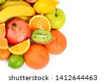 set of fruits isolated on white ... | Shutterstock . vector #1412644463