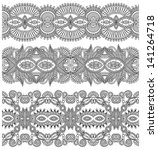 collection of black and white... | Shutterstock .eps vector #141264718