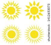 yellow sun flat icons... | Shutterstock .eps vector #1412653073