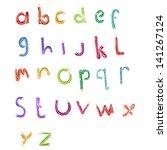 retro cartoon alphabet | Shutterstock .eps vector #141267124
