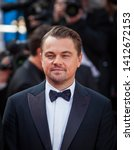 """Small photo of CANNES, FRANCE - MAY 21, 2019: Leonardo Di Caprio attends the red carpet before the screening of """"Once Upon A Time In Hollywood"""" during the 72nd annual Cannes Film Festival"""
