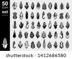 corn set. collection icon corn. ... | Shutterstock .eps vector #1412686580