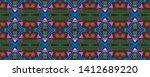 african repeat pattern....   Shutterstock . vector #1412689220