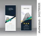 vertical banner stand... | Shutterstock .eps vector #1412700320