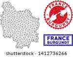 wire frame polygonal burgundy... | Shutterstock .eps vector #1412736266