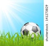 illustration soccer ball on...   Shutterstock .eps vector #141273829