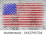 Illustration Of Usa Flag On...