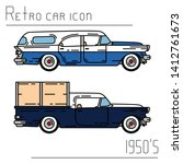 color vector icon set american...   Shutterstock .eps vector #1412761673