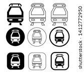 set of transport train icon   Shutterstock .eps vector #1412772950