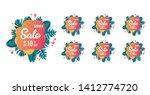 summer sale tags set vector... | Shutterstock .eps vector #1412774720