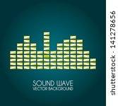 sound wave design over blue... | Shutterstock .eps vector #141278656