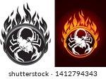 scorpion flame sigil variation... | Shutterstock .eps vector #1412794343