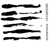 ink vector brush strokes... | Shutterstock .eps vector #1412803280