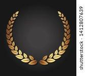 golden laurel wreath. luxury... | Shutterstock .eps vector #1412807639