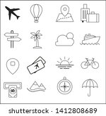 set icon tour and travel vector ... | Shutterstock .eps vector #1412808689