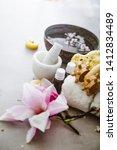 spa natural concept. dayspa... | Shutterstock . vector #1412834489