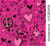 doodle pattern | Shutterstock .eps vector #141283906