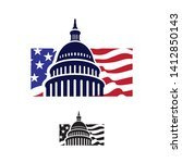 creative capitol building logo... | Shutterstock .eps vector #1412850143
