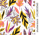 modern exotic seamless pattern. ... | Shutterstock .eps vector #1412853560