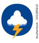 thunder cloud | Shutterstock .eps vector #141285613