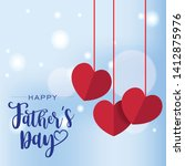 handwritten text happy father's ... | Shutterstock .eps vector #1412875976