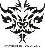 tattoo tiger. | Shutterstock .eps vector #141291370