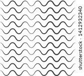 wavy pattern. waves outline... | Shutterstock .eps vector #1412932340