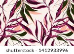 tropical  pattern with palm... | Shutterstock .eps vector #1412933996