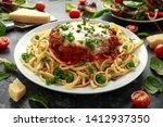 chicken parmesan with cheese...   Shutterstock . vector #1412937350