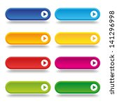 colorful long round buttons | Shutterstock .eps vector #141296998