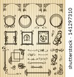 vector decorative set items... | Shutterstock .eps vector #141297310