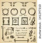 vector decorative set items... | Shutterstock .eps vector #141297310