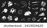 comic smoke. smoke puffs vfx ... | Shutterstock .eps vector #1413024620