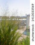 Small photo of White sunshade open sunshade panorama